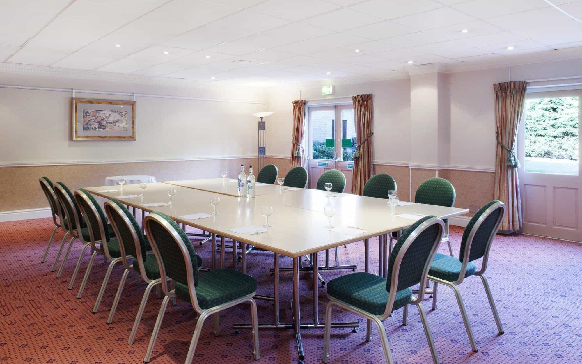 Meeting room in boardroom configuration at Citrus Coventry Hotel